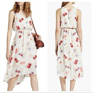 Lucky Brand Cream Floral High/Low Maxi Dress S